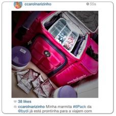 Carol Narizinho - Six Pack Bags Innovator 300 - Bolsa Térmica com marmita
