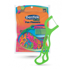 Dentek Hastes de Fio Dental Fun Flossers Wild Fruit (75 unidades)