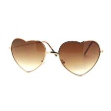 Óculos Coração Degradê Marrom