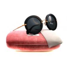 Miu Miu - Óculos 13NS 1AB1A1 Black 13NS Noir Round Sunglasses