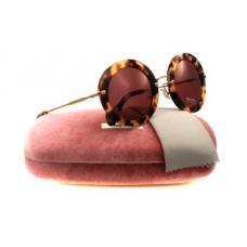 Miu Miu - Óculos 13NS 7S00A0 Yellow Havana 13NS Noir Round Sunglasses