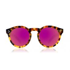 Óculos illesteva - LEONARD II LIGHT TORTOISE WITH PINK MIRRORED LENSES