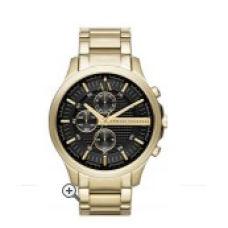 Relógio Armani Exchange Chronograph Dourado com fundo Preto