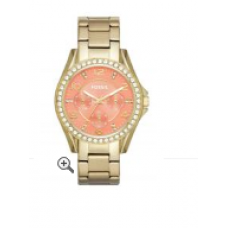 Relógio Fossil Riley Round Crystal Bezel