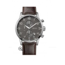 Relogio Boss Hugo Boss Stainless Steel & Leather Chronograph Marrom