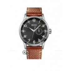 Relogio Boss Hugo Boss Round Leather Strap Marrom