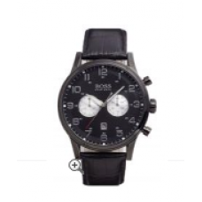 Relogio Boss Hugo Boss Chronograph Leather Strap Preto