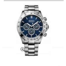 Relogio Boss Hugo Boss Round Chronograph Prata com Azul