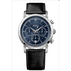 Relogio Boss Hugo Boss Classic Round Chronograph Preto com Azul