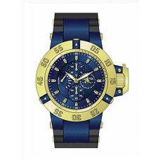 Relogio Invicta 17122 Subaqua Quartz Chronograph Blue Dial Azul com Dourado