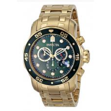 Relógio Invicta 0075 Pro Diver Chronograph 18k Gold-Plated