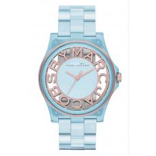 Relógio Marc Jacobs Henry Skeleton Azul River Blue