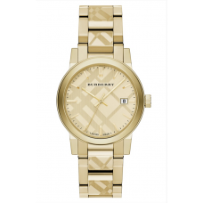 Relogio Burberry Check Stamped Dourado
