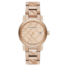 Relogio Burberry Check Stamped Rose