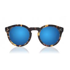Óculos illesteva - LEONARD II MATTE TORTOISE WITH BLUE MIRRORED LENSES