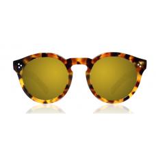 Óculos illesteva - LEONARD II LIGHT TORTOISE WITH GOLD MIRRORED LENSES