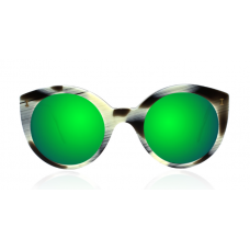 Óculos illesteva - PALM BEACH HORN WITH GREEN MIRRORED LENSES