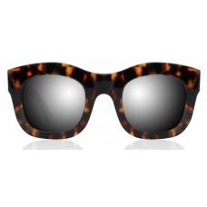Oculos Sol Illesteva HAMILTON TORTOISE THE SILVER MIRRORED LENSES