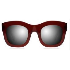 Óculos Sol Illesteva HAMILTON MAROON WITH SILVER MIRRORED LENSES