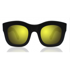 Óculos Sol Illesteva HAMILTON MATTE BLACK WITH YELLOW MIRRORED LENSES