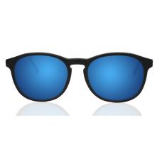 Óculos Sol Illesteva HUDSON MATTE BLACK WITH BLUE MIRRORED LENSES
