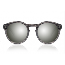 Óculos Sol Illesteva LEONARD II BLACK FROST WITH SILVER MIRRORED LENSES