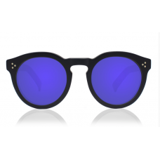 Óculos Illesteva LEONARD II MATTE BLACK WITH VIOLET MIRRORED LENSES