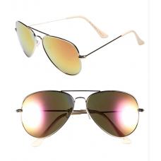 Óculos de Sol BP. Mirrored Aviator Amarelo