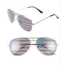 Óculos de Sol Icon Eyewear Helen American Flag Aviator Silver Flag
