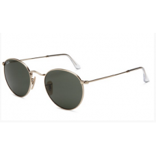 8df4519d5 Óculos Ray Ban RB3447 Round Metal Dourado