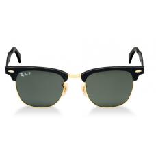 Ray-Ban ClubMaster RB3507 51mm Preto Dourado Lente Verde - Black/Green