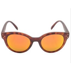 Óculos de sol tartaruga espelhado - Marrom e laranja