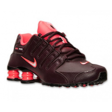 Nike Shox NZ EU Womens Shoes Deep Burgundy/Hyper Punch/Black