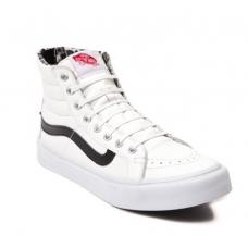 Vans Sk8 Hi Slim Zip Skate Shoe White/Black