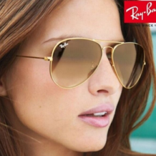 RayBan aviador 3025 degrade marrom tam 58mm