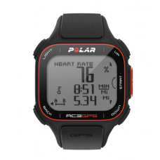 Polar Monitor Cardiaco RC3 GPS Fitness Watch com Heart Rate Monitor Preto