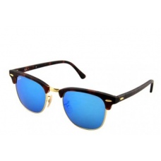 Ray-Ban Clubmaster Flash Lenses - Tortoise Blue