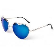 Óculos Coração Azul Espelhado