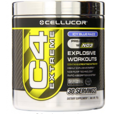 Cellucor C4 Extreme Workout Supplement, Icy Blue Razz, 171 Gram