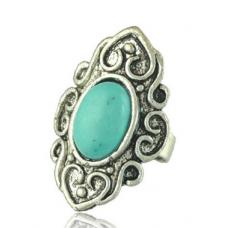 Anel Vintage Boho Turquoise - 1 peca