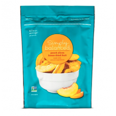 Simply Balanced Freeze Dried Peach Slices 1.25 oz
