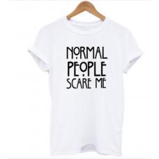 BYDI Camiseta T-shirt Normal People Scare Me