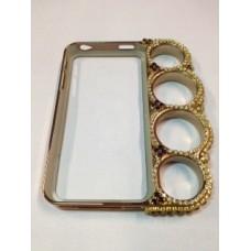 Capa Soco Ingles Strass 02 -  iPhone 4/4S e iPhone 5