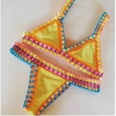 Biquini Croche Elastico Colorido Avicci