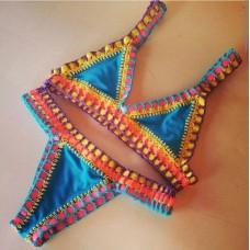 Biquini Croche Elastico Colorido Pista