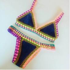 Biquini Croche Elastico Colorido Drica