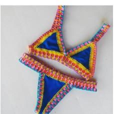 Biquini Croche Elastico Colorido Aluci