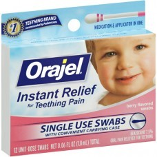 Baby Orajel Teething Pain Swabs-12pk